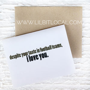 Card - Funny Anniversary or Just Because- football