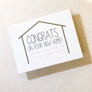 Card - Funny - New House - Housewarming