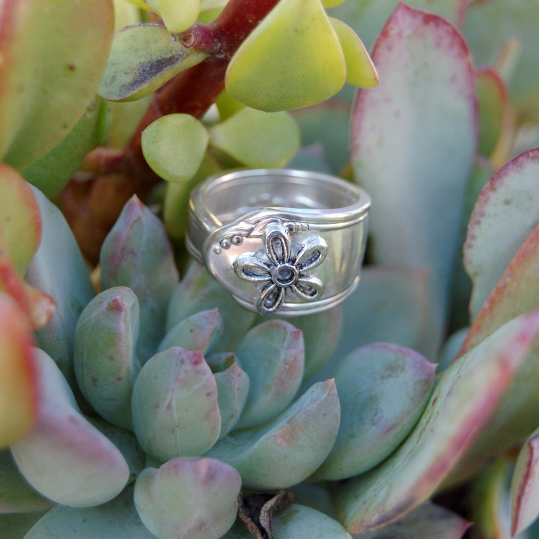 Vintage Spoon Flower Ring