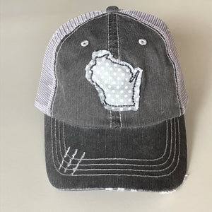 Fabric State Appliqué Trucker Hat - Wisconsin