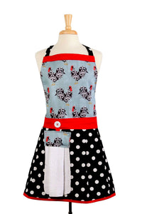 Kitchen Apron - Jessica - Rooster Apron for Women