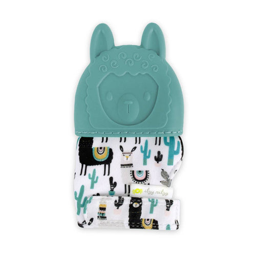 Distract your baby from their aching gums with these silicone llama teething mitts!  They soft silicone soothes, while the mitten crinkles to distract them from the pain of their swollen gums or emerging teeth, making them the perfect gift for newborns and gifts for babies.  Lil Bit Local offers unique gifts for every occasion.