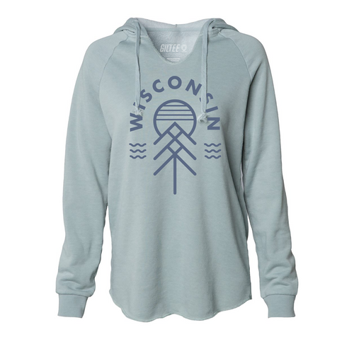 The Wisconsin Native Women's Hoodie - Sage Green