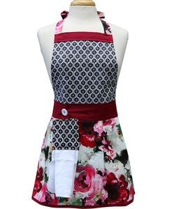 Kitchen Apron - Rosetta - Floral Apron for Women