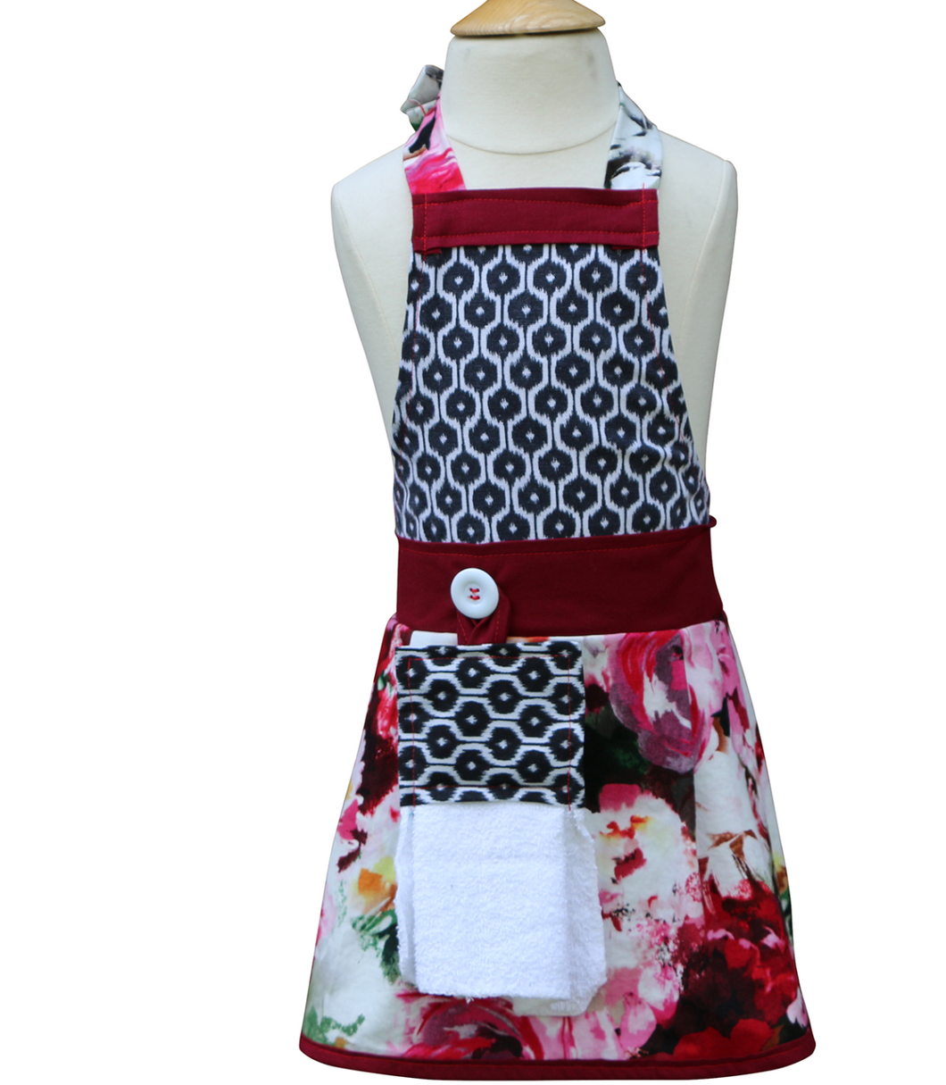 Girls Floral Apron