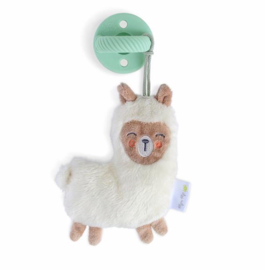Baby Gift - Llama Stuffed Animal and Soother