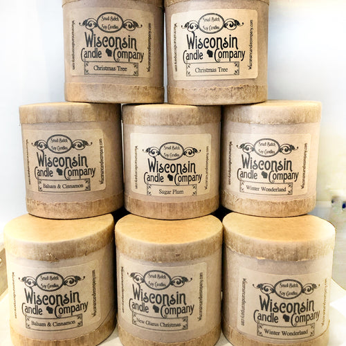 Wisconsin Soy Candle - 10 oz -  Christmas Scents!