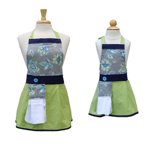 Kitchen Apron - Kayla - Floral and Polka Dot Apron for Women
