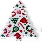 """Merry Christmas"" Wooden Ornament - Frippery Tree"