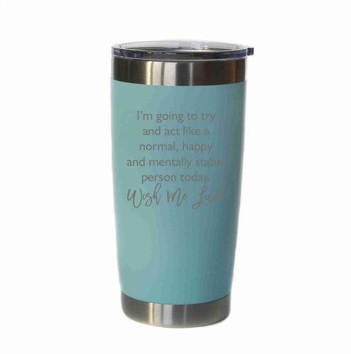 "20oz Coffee Tumbler - ""Wish Me Luck"" - Lil Bit Local"