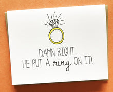 Engagement + Card + Funny