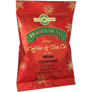 White Christmas pillow pack is a 10-12 cup of coffee ground coffee package, perfect for 1 full pot of coffee. Roasted locally in Door County, Wisconsin, this holiday favorite brings together vanilla in your coffee, to leaving you tasting hints of homemade vanilla ice cream on those blustering winter mornings. For more unique holiday gift ideas, shop lilbitlocal.com.