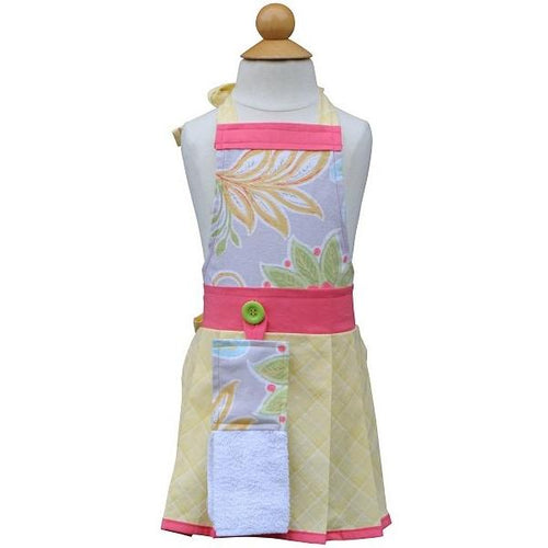 Fun Girls Apron - Georgi -  Floral Apron for Kids