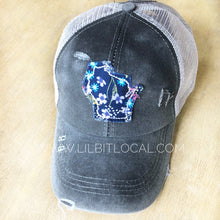Criss Cross Wisconsin Ponytail Hat