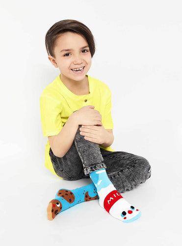 Socks - Milk & Cookies - Kids Collectible Mismatched Socks