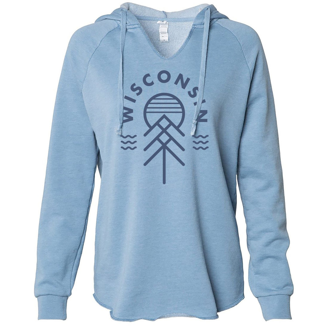 Limited Edition Wisconsin Native Women's Hoodie - Blue - GILTEE