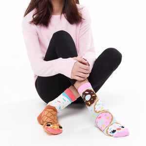 Donuts & Ice Cream Mismatched Socks - Adult Sizes