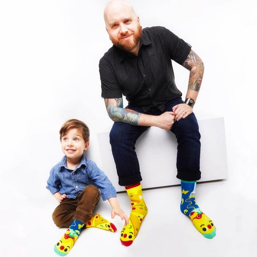 Pizza & Pasta Mismatched Socks - Ages 1-3 to Adult