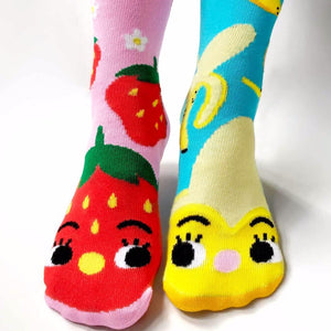 Pals Mismatched Socks - Strawberry & Banana - Ages 4-8