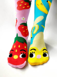 Strawberry & Banana Socks - Ages 1-3 to Adult!