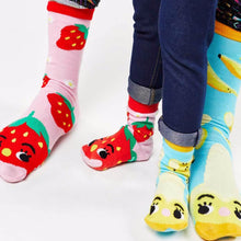 Strawberry & Banana Smoothie Mismatched Collectible Socks
