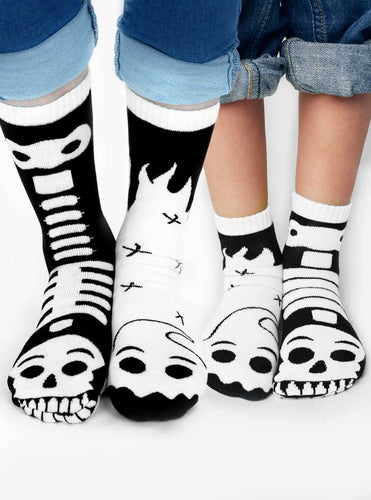 Ghost & Skeleton Mismatched Socks -Glow in The Dark- Select a Size!