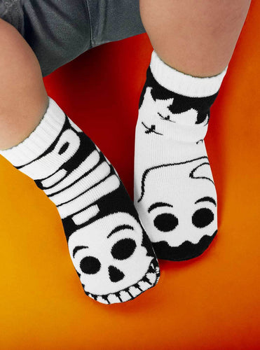 Glow in The Dark Mismatched Socks - Ghost & Skeleton Pals - Select a Size!