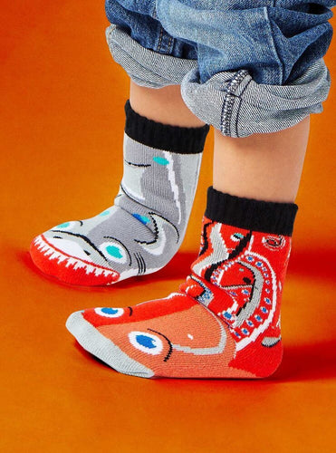 Kids Mismatched Socks - Shark & Octopus - TWEEN (ages 9-12)