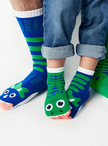 T-rex & Triceratops - Mismatched Socks - Toddler & Adult