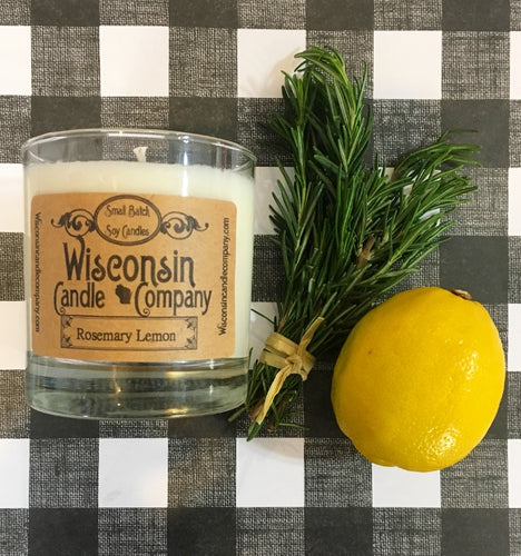 Wisconsin Soy Candle - 10 oz - Rosemary Lemon