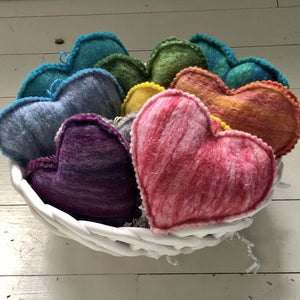 Felted Heart Soap Sachets
