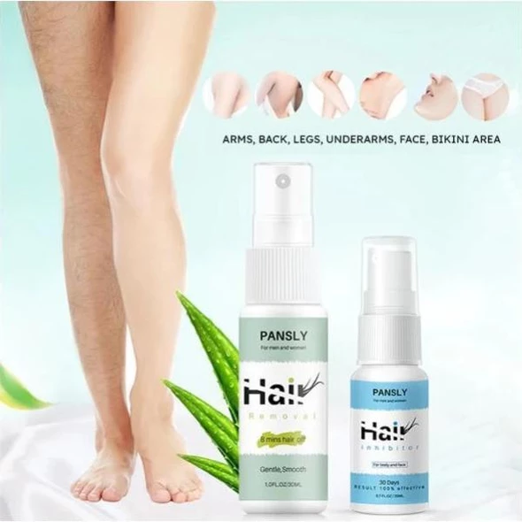 Natural Hair Removal And Prevention Spray Kit