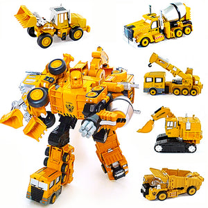 Transformer - Truck Team Collection Get Them All and Create Gigabot Devastator 5 in 1 Best Gift for Kids Children and Adults for Birthday Christmas and other Occasion, Quality Transformation Robot Toy Cars Minifigures Action Figure for All Ages