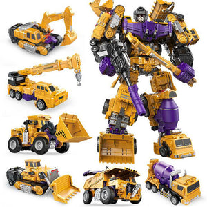 New Devastator - 6in1 Transformation Robot Made of Construction Vehicle, Six Unique Trucks Combine Into Massive Megabot