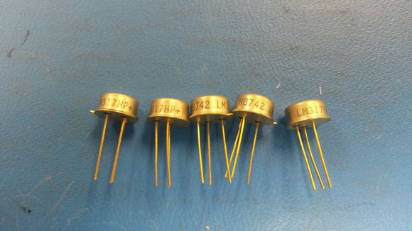 (5 PCS) LM317HP+ NATIONAL SEMI. LDO Regulator Pos 1.2V to 37V 0.5A 3-Pin TO-39