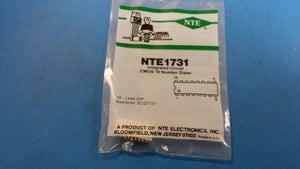 (1PC) NTE1731, ECG1731, Integrated Circuit CMOS 10 Number Pulse Dialer