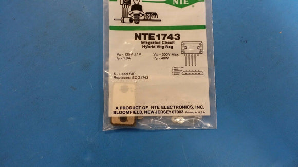 NTE1743, ECG1743, Integrated Circuit, TV Fixed Voltage Regulator