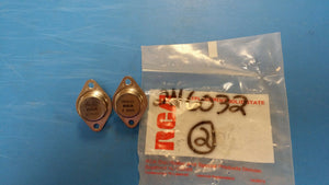 (1 PC) 2N6032 RCA  50 A, 90 V, NPN, Si, POWER TRANSISTOR, TO-3