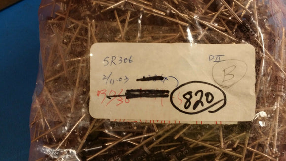 (20 PCS) SR306 DIODES INC Diode Schottky 60V 3A 2-Pin DO-201AD