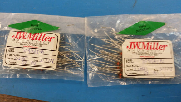 (10 PCS) 70F915AI-RC JW MILLER RF Fixed Inductors 91uH 5%