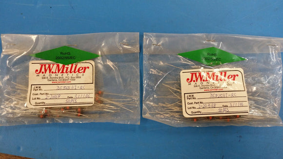 (10 PCS) 70F825AI-RC JW MILLER RF Fixed Inductors 82uH 5%