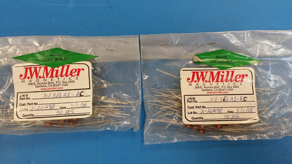 (10 PCS) 70F565AI-RC JW MILLER RF Fixed Inductors 56uH 5%