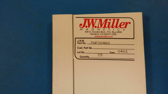 (10 PCS) 70F204AI JW MILLER RF Fixed Inductors 200uH 5%, Obsolete