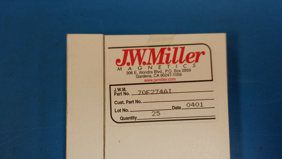 (10 PCS) 70F274AI JW MILLER RF Fixed Inductors 270uH 5%, Obsolete