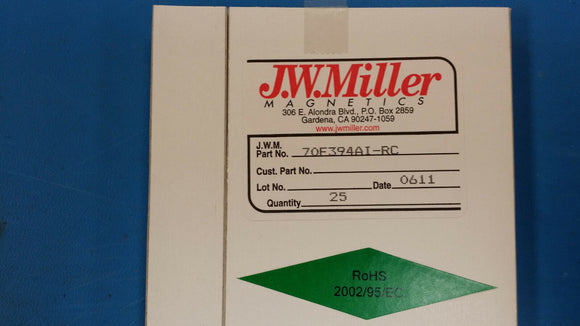 (10 PCS) 70F394AI-RC JW MILLER RF Fixed Inductors 390uH 5%