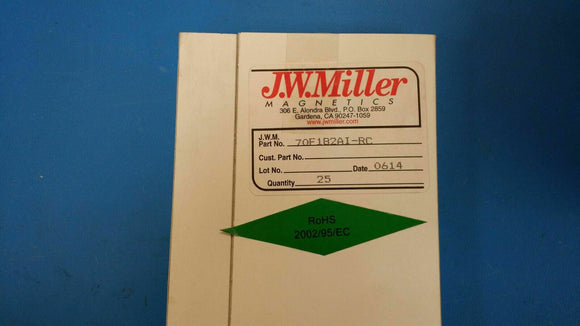 (10 PCS) 70F182AI-RC JW MILLER RF Fixed Inductors 18mH 5%