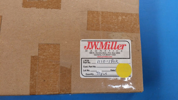 (5 PCS) 1110-180K JW MILLER RF Fixed Inductors 18uH 10%, Obsolete