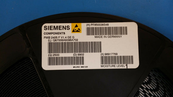 (1) PMB2405F-V1.4 SIEMENS SINGLE-CHIP DOUBLE-CONVERSION HETERODYNE GSM RECIEVER