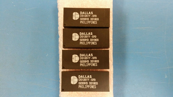 (1 PC) DS1251Y-70 DALLAS Real Time Clock Phantom Clock/Parallel 512KByte 32 EDIP