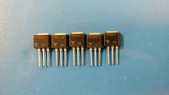 (5 PCS) T106D2 TECCOR Thyristor SCR 400V 20A 3-Pin(3+Tab) TO-202